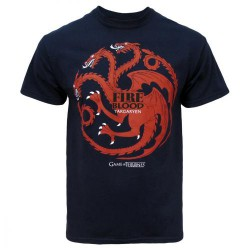 T-shirt Game of Thrones Targaryen Bleu Marine