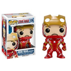 Iron Man (Unmasked) Funko Pop Captain America 3 Civil War Iron Man (Unmasked) Limited Edition 136
