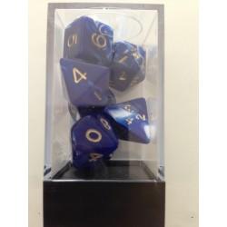 Pack de 7 dés Marbrés Bleu