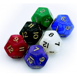 D12 - 12 Sided Pearl Dice