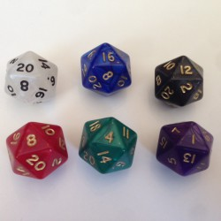 D20 - 20 Sided Pearl Dice