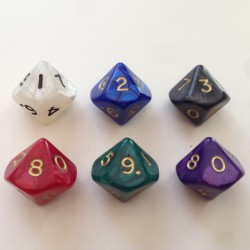 D10 - 10 Sided Pearl Dice