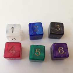D6 - 6 Sided Pearl Dice