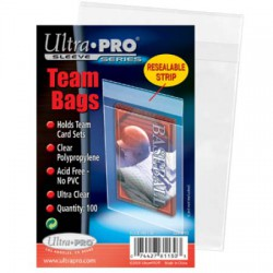 Ultra PRO Team Bags Resealable Sleeves - Clear (x100) soft sleeves