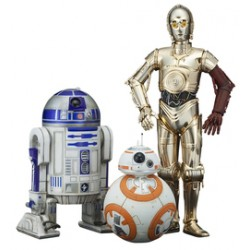 C-3PO & R2-D2 with BB-8 set of 3 action figures Star Wars Episode 7 The Force Awakens