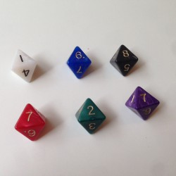 D8 - 8 Sided Pearl Dice