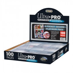 Feuilles de Classeur Secure Platinum Series 9 Cases 11 Trous Ultra PRO