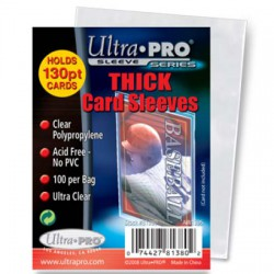 Pochettes transparentes épaisses Ultra Pro Thick Card Sleeves (x100)