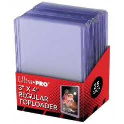 "Toploader Ultra PRO 3""x4"" Clear Regular 63.5mm x 88.9mm (x25)"