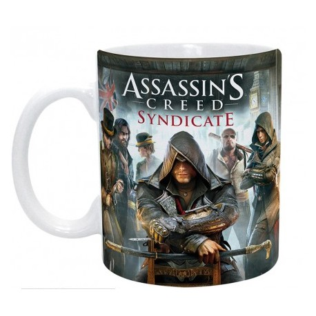 Mug Assassin's Creed Jaquette - Jacob, Evie et les Rooks (320ml)