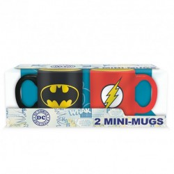 Mini-Mugs Set of 2 DC Comics Batman & Flash (110ml)