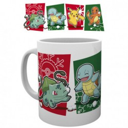 Mug Pokémon Pikachu Carapuce Salameche Bulbizarre (300ml)