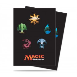 Magic Mana Symbols v5 Ultra Pro Standard Sleeves (x80)
