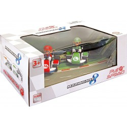 Mario Kart 8 Pack 2 voitures à friction 1/43 Mario & Luigi Véhicules Super Mario