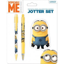Minions Ballpoint Pen, Mechanical Pencil & Note Pad - Despicable Me