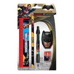 Set Papeterie 5 pièces Batman vs Superman Showdown in Gotham City