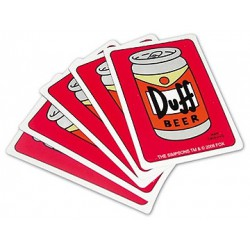 The Simpsons Duff Beer 54 Playing Cards