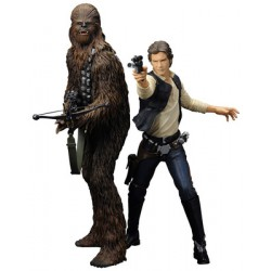 Han Solo & Chewbacca Figurines Star Wars ARTFX+ Series (Pack de 2) (19cm / 21cm)