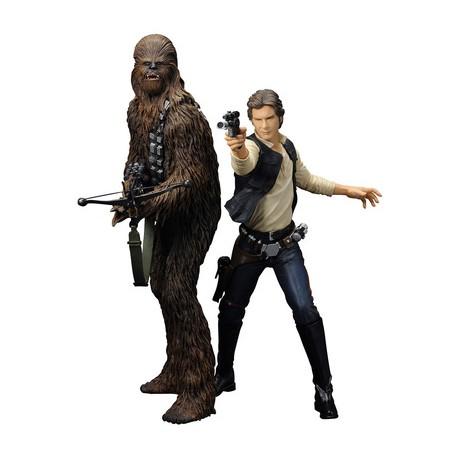 Han Solo & Chewbacca Figurines Star Wars ARTFX+ Series (Pack de 2) (19cm / 21cm)