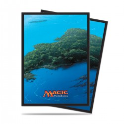 Mana 5 Island by John Avon Ultra Pro Standard Sleeves (x80)