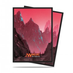 Mana 5 Mountain by John Avon Ultra Pro Standard Sleeves (x80)
