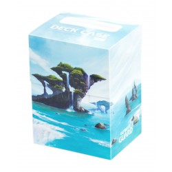 Basic 80+ Deck Case Lands Edition Island Ultimate Guard (Île)