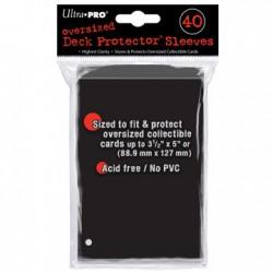 Oversized Sleeves for Magic the Gathering Ultra Pro Black (x40)