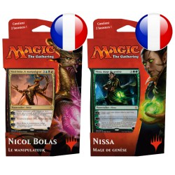 Lot de 2 Decks de Planeswalker L'âge de la destruction Nicol Bolas et Nissa (FR)