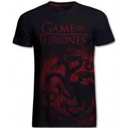 Targaryen Jumbo Print Game of Thrones T-Shirt (Noir)