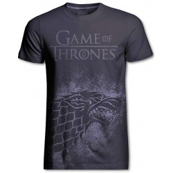 Stark Jumbo Print Game of Thrones T-Shirt (Gris)