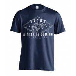 Stark Winter is Coming Game of Thrones T-Shirt (Bleu)