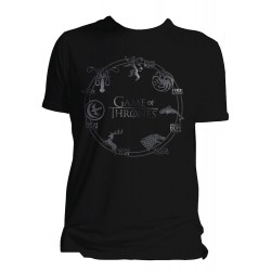 Houses Game of Thrones T-Shirt (Noir)