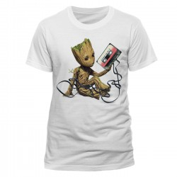 Groot & Tape The Guardians of the Galaxy 2 T-Shirt (White)