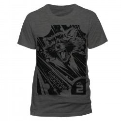 Rocket T-Shirt The Guardians of the Galaxy 2 T-Shirt Geometric (Grey)