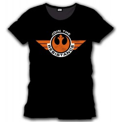 T-shirt Star Wars Episode VII Join the Resistance (Noir)
