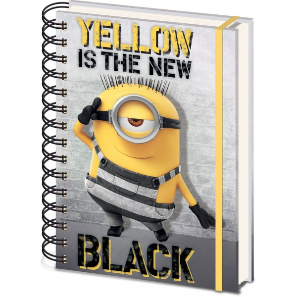 yellow is the new black notebook a5 despicable me 3