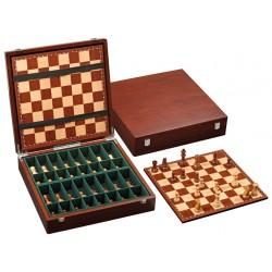Jeu d'échecs exclusif en bois avec coffret