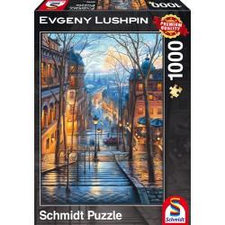 Puzzle Montmartre - Matin de printemps à Montmartre - Evgeny Lushpin - 1000 pcs