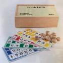 Loto - 90 pions en bois et 48 cartons - Coffret Sapin