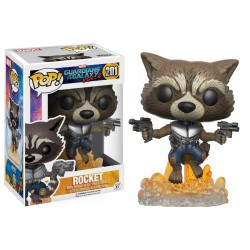 Rocket Racoon Blasting Funko Pop Guardians of the Galaxy Vol. 2 - 201