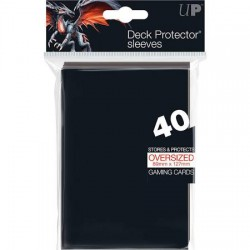Oversized Top Loading Sleeves for Magic the Gathering Ultra Pro Black (x40)