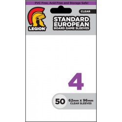 Standard European Size Board Game Sleeves 4 Legion Standard Sleeves (x50)