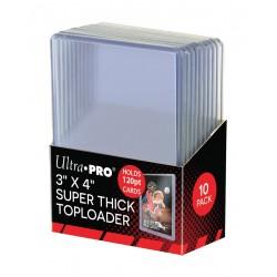 "Super Thick 120PT Toploader Ultra PRO 3""x4"" (x10)"