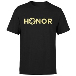 T-shirt Honor Magic the Gathering Mana Blanche (Noir)