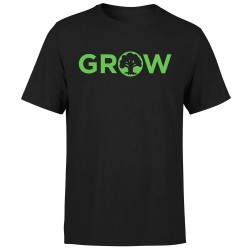 T-shirt Grow Magic the Gathering Mana Verte (Noir)