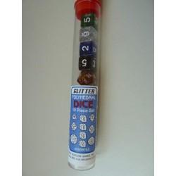 Koplow Dés - Pack de 10 dés assortis - Glitter