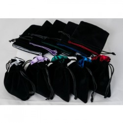 Velvet Dice Bag with Satin Lining 10x12cm (Choose your color)