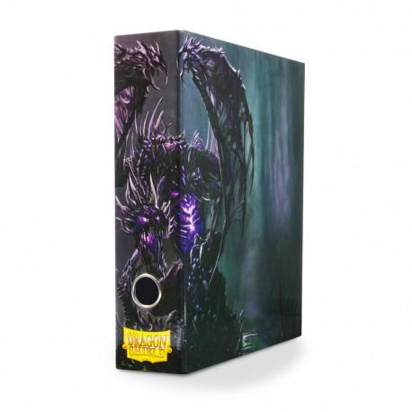 Slipcase Binder Dragon Shield 3 Ring Binder - Black Dragon Art
