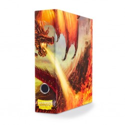 Slipcase Binder Dragon Shield 3 Ring Binder - Red Dragon Art