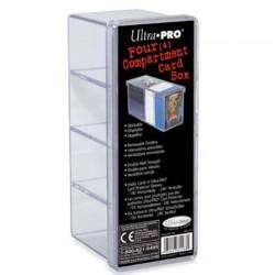 Ultra Pro - Boite de rangement à 4 compartiments pour cartes